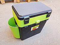 Ящик зимний Helios FishBox 19л, цвет зеленый, ОРИГИНАЛ, (Барнаул, Россия)