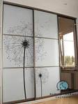 Межкомнатная перегородка - фасады с наполнением стекло фотопечать под заказ