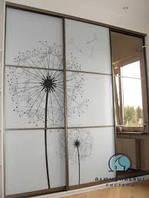 Межкомнатная перегородка - фасады с наполнением стекло фотопечать под заказ, фото 1