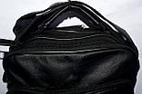 Мужская черная барсетка через плечо под кожу 20*25 см, фото 2