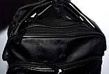 Мужская черная барсетка через плечо под кожу 20*25 см, фото 4
