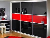 Собранные фасады для шкафов-купе с наполнением ДСП, Зеркало, Фотопечать, Сатин, Лакобель под готовый проём , фото 1