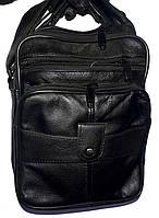 Мужская черная барсетка на плечо под кожу 20*26 см