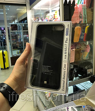 Чехол Аккумулятор 5000мА для iPhone 7 Plus, черная iPhone 7 +