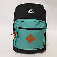 Качественный рюкзак Onepolar 2158 черно-голубой 25 л долговечный