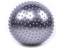 Мяч фитнес 55 cм, массажный KingLion с насосом
