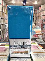 Простынь трикотаж на резинке,160*200(+30) 2 нав. 70*70 см turquoise