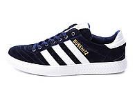 Мужские Кожаные кеды Adidas Busenitz Blue, фото 1