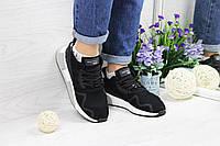 Кроссовки женские черные с белым Adidas Equipment adv 91-17  4492