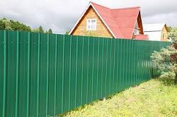Забор из профнастила высота 1.5 м без столбов