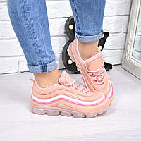 Кроссовки женские под Nike пудра 4255, люкс качество