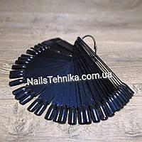 Типсы для образцов на кольце, 50 шт Черные