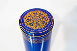 Коробка с крышкой из жести, 10х19 см, Синее золото, Праздничная упаковка из жести, Днепр, фото 4