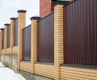 Забор из профнастила высота 2.0 м без столбов