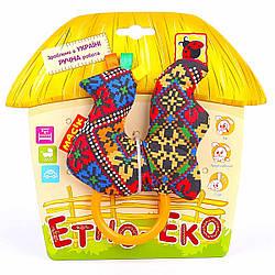 Погремушка «Этно-Эко» Птичка с кольцом Масік