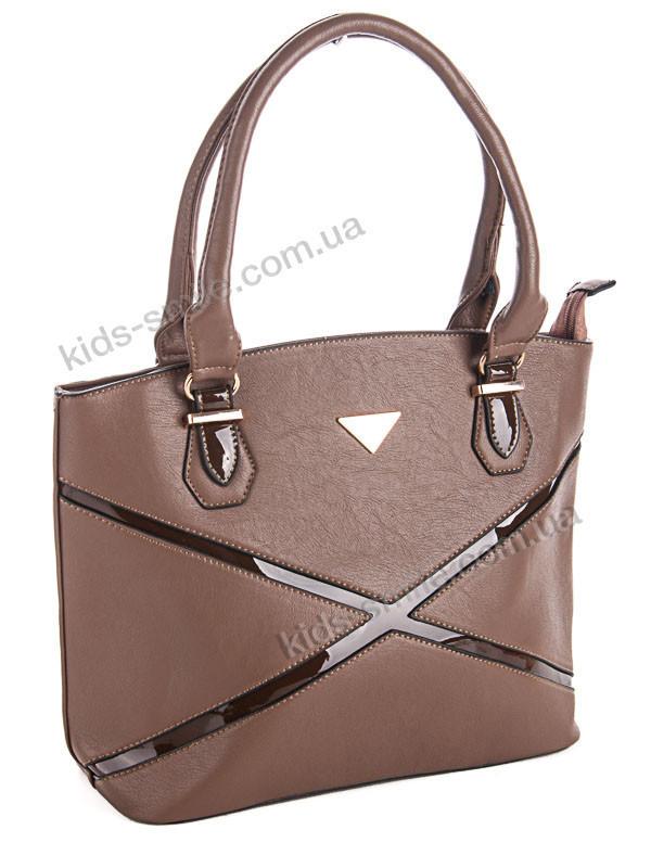 Красивая женская сумка 27.5 см х 39 см цвет хаки