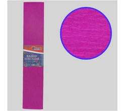 KR35-8005 Креп-бумага 35%, темно-розовый 50*200см, 20г/м2