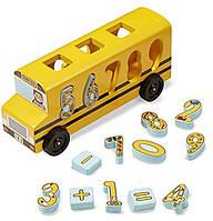 """MD19398 Number Matching Math Bus (Деревянный школьный автобус-сортер """"Счет"""")"""
