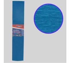 KR35-8008 Креп-бумага 35%, темно-голубой 50*200см, 20г/м2