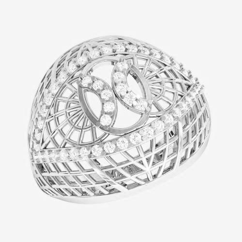 Кольцо  женское серебряное Плетенка ВKE1458