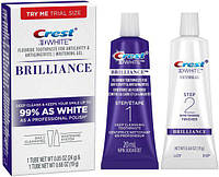 Набор для отбеливания зубов Crest 3D White Brilliance Toothpaste and Whitening Gel миниатюра, фото 1