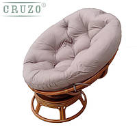 Кресло качалка CRUZO Папасан натуральный ротанг медовый