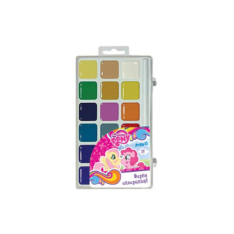 Краски акварельные Kite My Little Pony 18 цветов в пластиковой упаковке LP17-042