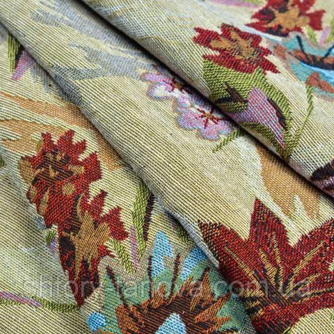 Гобелен ткань, букет лилий