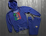 Спортивный костюм Adidas синего цвета (люкс копия)