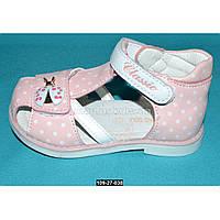 Ортопедические босоножки для девочки, 21 размер, супинатор, каблук Томаса