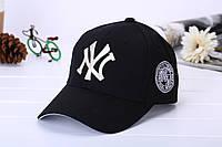 Бейсболка NY (Нью-Йорк) Черная, Унисекс