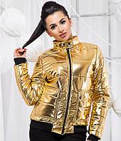 Стильная куртка из экокожи - 19336 БЛ