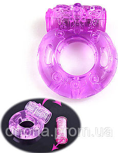 "Эрекционное кольцо ""Бабочка"" с мини-вибратором"