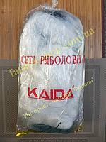 Сеть рыболовная, 100м*3м, ячейки (45,50)трехстенная, вшитые грузики, для промышленного лова