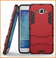 Бронированный противоударный чехол Stand для Samsung Galaxy J7 (2016) SM-J710F Dante Red