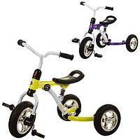 Велосипед M 3207A-2 (2шт)три кол.резина(10/8),с аморт.,быстросъем.кол.,2 цв.: фиолет.,зеленый