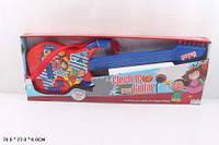 Игрушка детская инструменты музыкальные Гитара струнная 9028A батарейки коробка 70*6*27