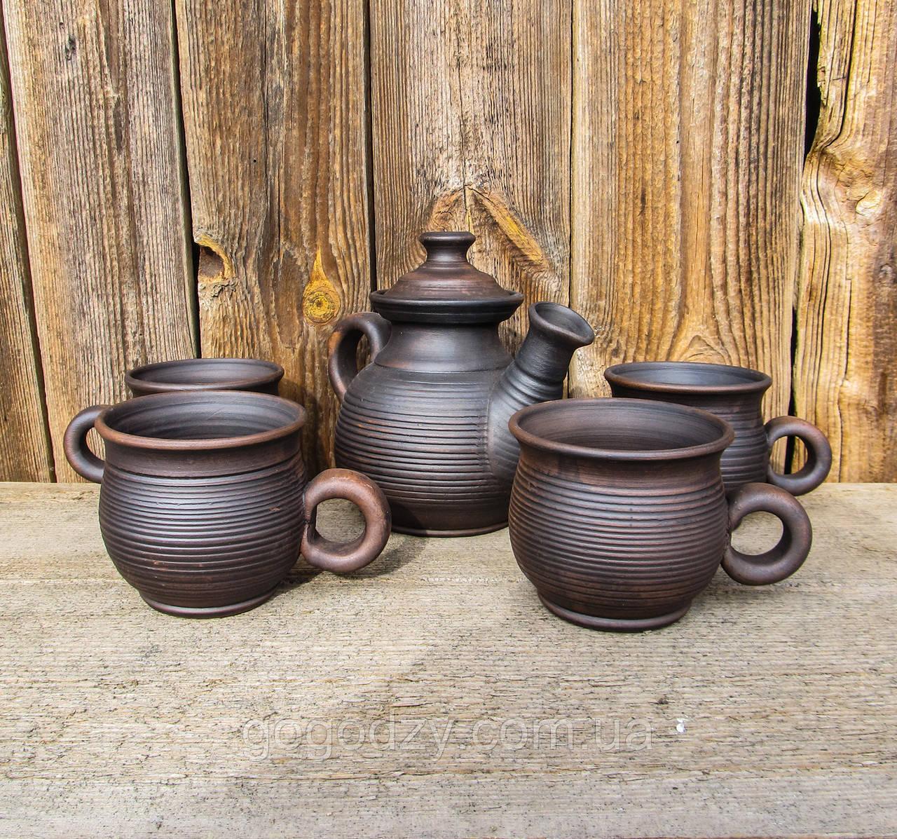 Чайний набір гончарний на 4 особи