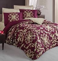 Набор постельного белья сатин  200х220 Cotton box Royal Saten TAYLOR KIRMIZI