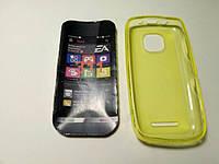 Чехол силиконовый Nokia Asha 311 lemon