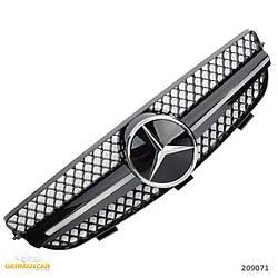 Решетка радиатора Mercedes CLK W209 стиль AMG (черный глянц + хром звезда)