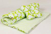 Летний комплект в детскую коляску BabySoon Яркий микки одеяло 65 х 75 см подушка 22 х 26 см салатовый (073)