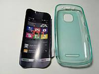 Чехол силиконовый Nokia Asha 311 blue