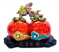 Два персика на ветке полистоун пёстрый