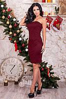 Вечернее платье цвет: марсала, размер: 42, 44, 46, 48