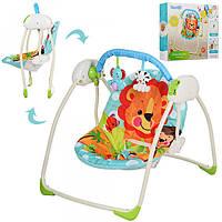 Кресло-качели музыкальные M 3243  Bambi