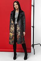 Молодежное пальто из экозамша с цветочным принтом Kiro Tokao 8580H 54