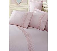 Комплект постельного белья 200х220 Cotton box Ранфорс вышивка PUDRA