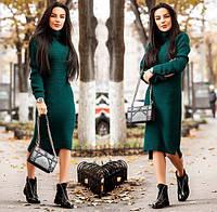 """Тёплое женское вязаное платье 059 """"Итали"""" в расцветках"""