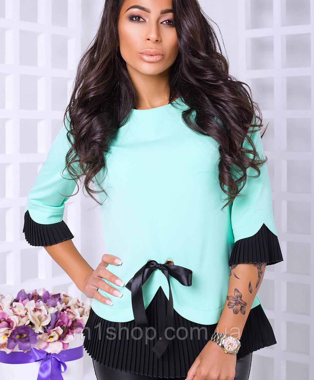Женская блузка с гофре (Католина lzn)